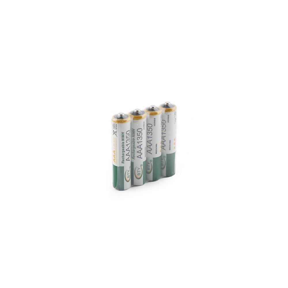 Lot de 4 piles rechargeables LR03