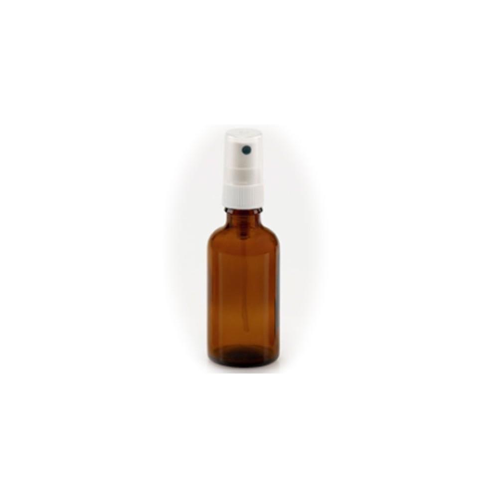 Flacon en verre ambré avec spray