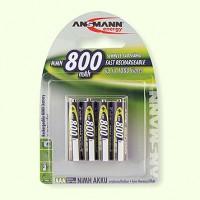Piles rechargeables R03 1,2 V NiMH (lot de 4)