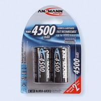 Piles rechargeables R14 1,2 V NiMH (lot de 2)
