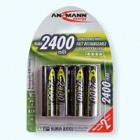 Piles rechargeables R6 1,2 V NiMH (lot de 4)