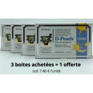 Vitamine D3 Lot de 4