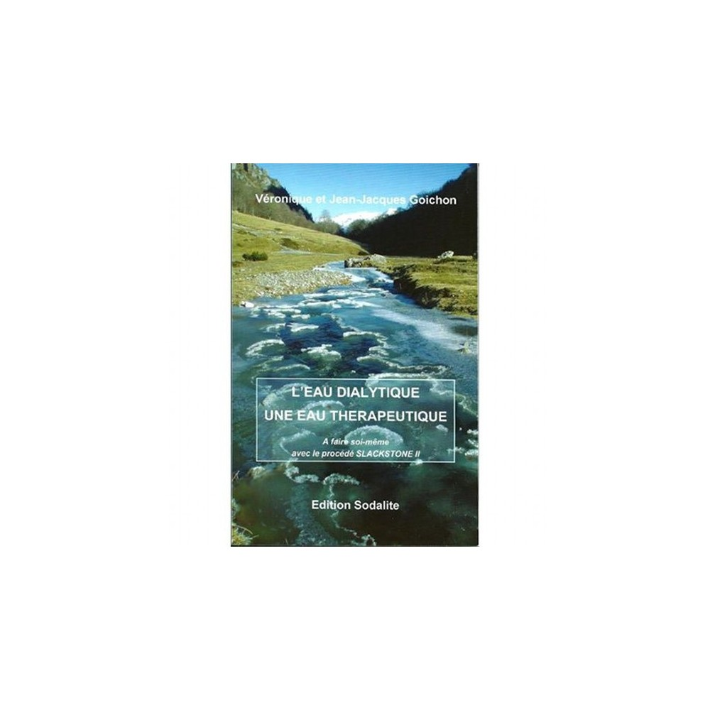 L'eau Dialytique - Une Eau Thérapeutique